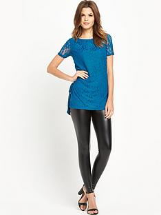 definitions-short-sleeve-jersey-tie-side-lace-top