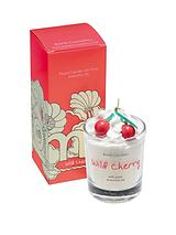 Bomb Cosmetics Wild Cherry Piped Glass Candle