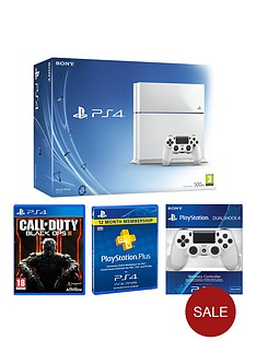 playstation-4-500gb-white-console-with-call-of-duty-black-ops-3-with-optional-12-months-playstation-plus-andor-dual-shock-controller-4