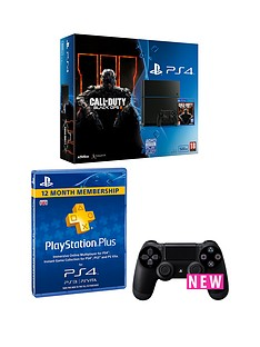 playstation-4-500gbnbspconsole-with-call-of-duty-black-ops-3-12-months-playstation-plus-and-an-extra-dualshocknbsp4-controller