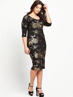so-fabulous-plus-size-gold-foil-print-jersey-bodycon-dress-14-28