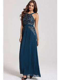 little-mistress-sequin-strappy-maxi-dress