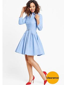 myleene-klass-chambray-pleated-dress