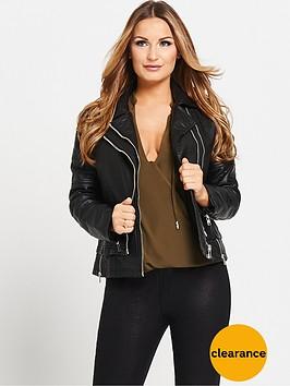 samantha-faiers-fauxnbspleather-biker-jacket