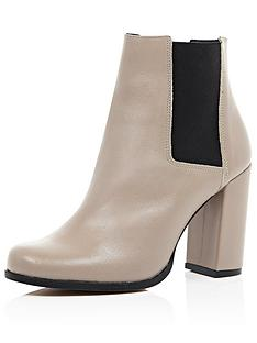 river-island-block-heeled-chelsea-ankle-boot