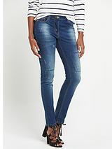 Patch Relaxed Skinny Jeans