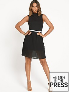 rochelle-humes-pleated-skirt-dress