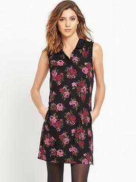 superdry-lacy-print-collar-dress