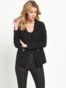 v-by-very-zip-detail-blazer