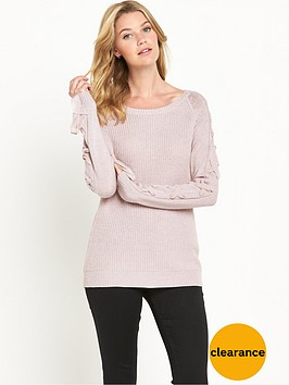 v-by-very-chiffon-tie-sleeve-jumper