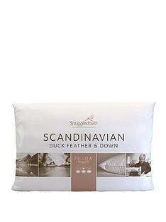 Snuggledown of Norway Scandinavian Duck Feather and Down Pillow (Pair)