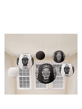 day-of-the-dead-halloween-lanterns--pack-of-6