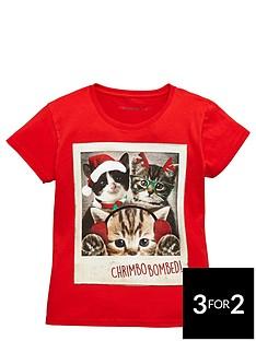 freespirit-girls-novelty-cat-christmas-tee
