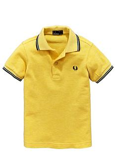 fred-perry-ss-tipped-polo-mid-yellow-marl