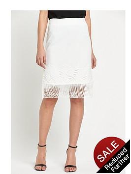 miss-selfridge-white-lace-fringe-skirt