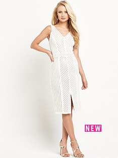 miss-selfridge-chevron-lace-pencil-dress