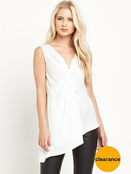 miss-selfridge-white-twist-tunic