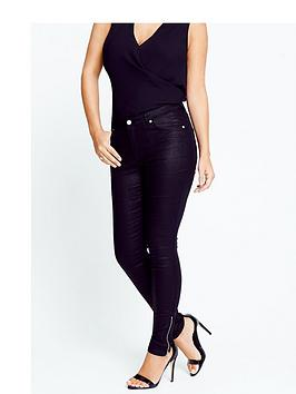 Samantha Faiers Coated Skinny Jeans With Ankle Zips