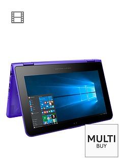 hp-pavilion-x360-11-k104na-intel-celeron-4gb-ram-500gb-storage-116-inch-touchscreen-2-in-1-laptop-purple