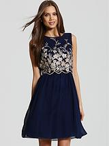 Embroidered 2-in-1 Dress