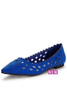 shoe-box-netleynbspcut-out-mesh-point-ballerinanbsp