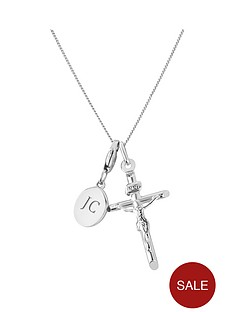 keepsafe-keepsafe-sterling-silver-crucifix-pendant-with-personalised-clip-charm
