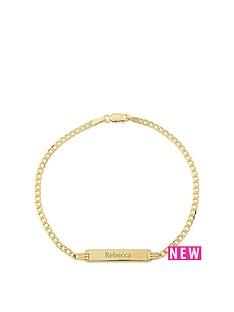 keepsafe-keepsafe-personalised-9ct-yellow-gold-identity-diamond-cut-curb-bracelet