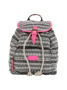 girls-aztec-neon-trim-backpack