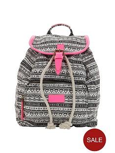 girls-aztec-neon-trim-backpack