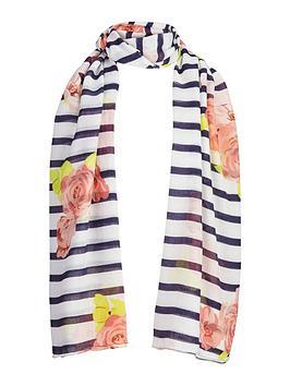 girls-floral-stripe-scarf
