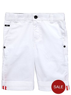 boss-boys-white-cotton-shorts