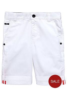 boss-boys-white-cotton-shorts