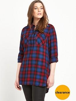 v-by-very-curve-check-tunic-shirt