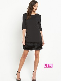 lavish-alice-faux-fur-hem-shift-dress