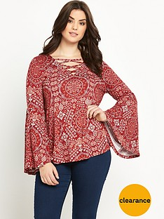 so-fabulous-bell-sleeve-lace-front-jersey-top