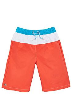 lacoste-boys-stripe-swim-shorts