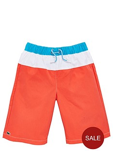 lacoste-boys-stripe-swim-shorts