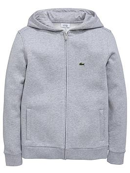 lacoste-classic-zip-thru-hoody-grey-marl