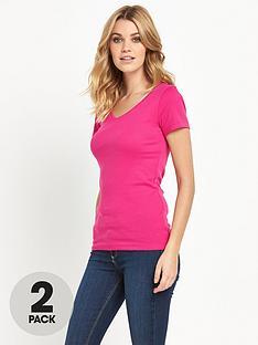 v-by-very-pack-2-v-neck-rib-t-shirts