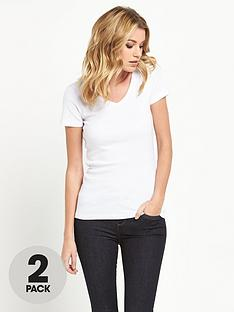 v-by-very-pack-2-v-neck-rib-t-shirts
