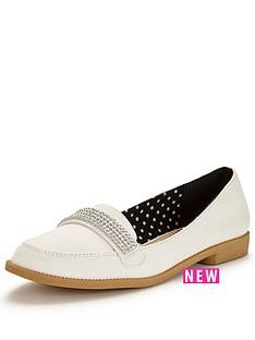 v-by-very-tessa-diamante-trim-pretty-loafer-white