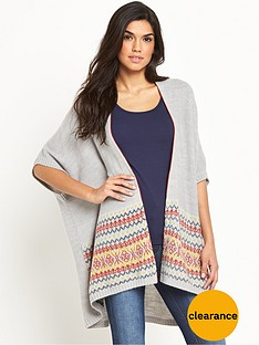 v-by-very-border-detail-poncho