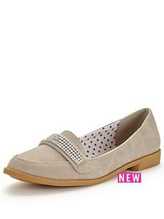 v-by-very-tessa-diamante-trim-pretty-loafer-grey