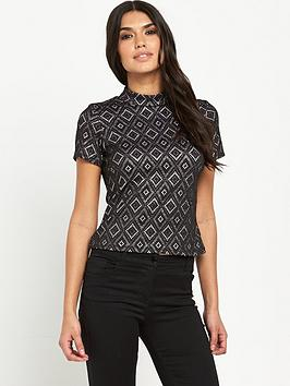 V by Very Textured Funnel Neck Top