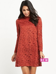 v-by-very-long-sleeve-high-neck-lace-swing-dress
