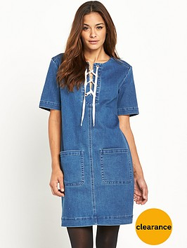 v-by-very-denim-lace-front-pocket-trim-dress