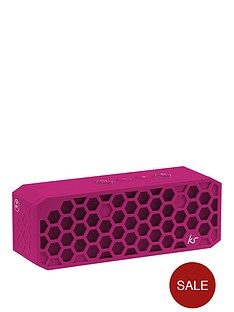 kitsound-hive-2-bluetooth-wireless-portable-stereo-speaker-pink