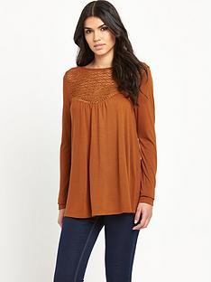 v-by-very-long-sleeve-tie-back-crochet-yoke-top