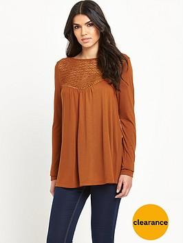 v-by-very-long-sleeve-tie-back-crochet-yoke-top