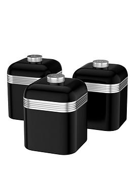 swan-retro-set-of-3-canisters-black